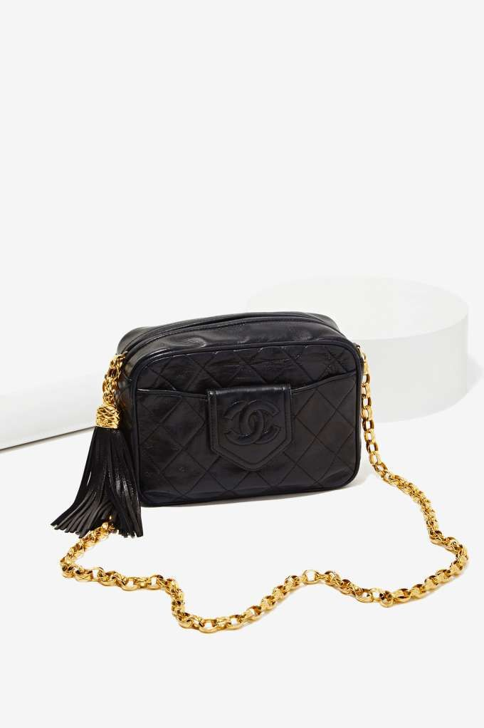 7a98a2a612cca Vintage Chanel Quilted Leather Tassel Bag