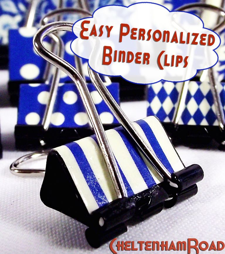 Easy Personalized Binder Clips – Get Organized!