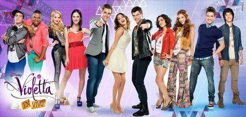 Todos los personajes de la nueva temporada de Violetta. EN VIVO!!!