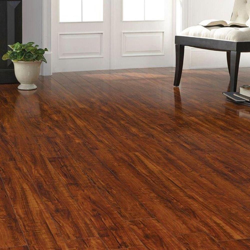 Home Decorators Collection High Gloss Perry Hickory 8 Mm Thick X 5 In Wide X 47 3 4 In Length Laminate Flooring 13 26 Sq Ft Case Hl84 Laminate Flooring Flooring Beautiful Flooring