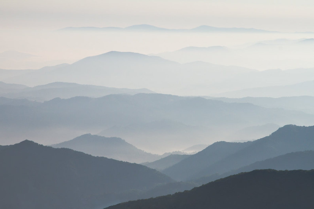 Blue Ridge Mountain Photograph Large 20 x 30 Print - View from Janes Bald