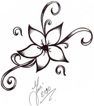 How to Draw an Easy Flower Step Nice looking flowers drawing