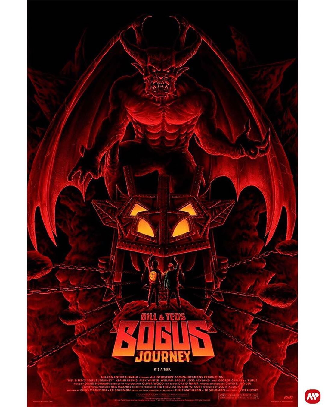 Bill Ted S Bogus Journey By Matty Ryan Tobin Mattryan Alternative Movie Posters Best Movie Posters Movie Poster Art
