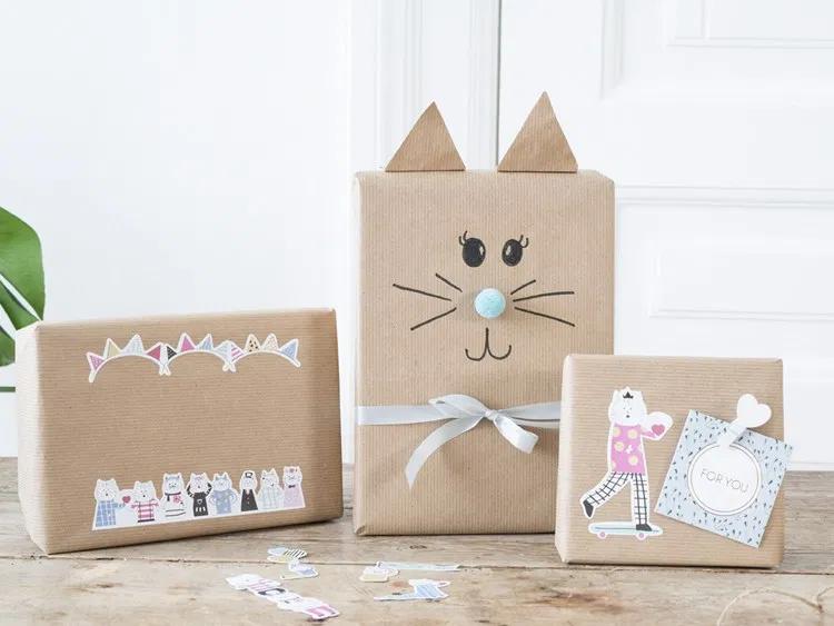 DIY video - Idées d'emballage cadeau avec des motifs de chat #emballagecadeauoriginal DIY video - Idées d'emballage cadeau avec des motifs de chat #emballagecadeauoriginal