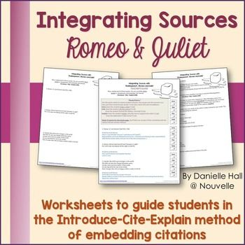 Integrating Source Direct Quote Paraphrasing Romeo Being Used Teaching Shakespeare Literature Teacher In Text Citation Paraphrase And Juliet