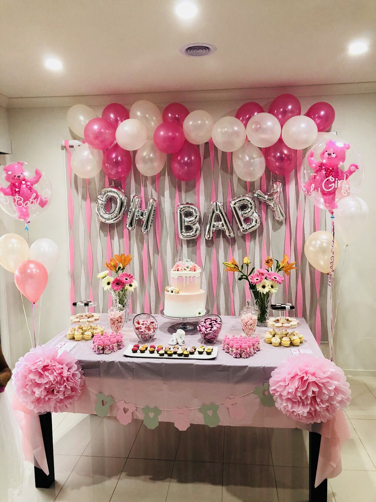 Decor Ideas Diy Wedding Decor For Party Ideas Decor Pallet Ideas Ideas To Decor Ba In 2020 Baby Shower Princess Girl Baby Shower Decorations Decoracion Baby Shower
