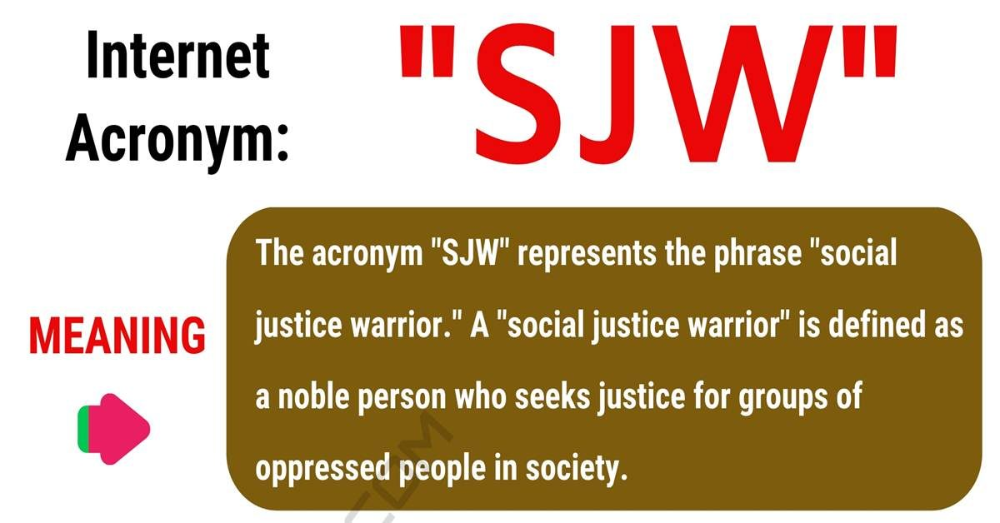Sjw Meaning What Does Sjw Mean With Useful Conversations 7esl Sjw Social Justice Warrior Learn English