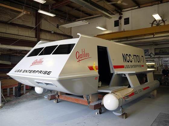 'Star Trek' Galileo shuttlecraft restored to its 1960s glory (Photo: Space.com / Karl Tate)