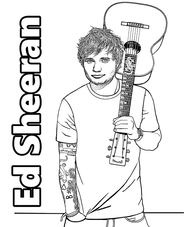 Famous singers coloring pages with pop stars Topcoloringpages | 740x600