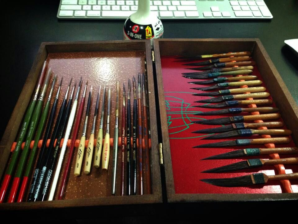 Be still my heart .... Real brushes!   Signpainting ...