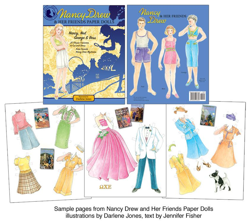 Nancy Drew And Her Friends Paper Dolls  Click Image To Close