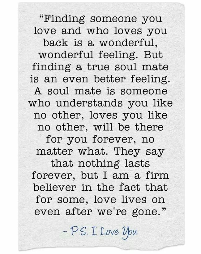 Finding someone you love...