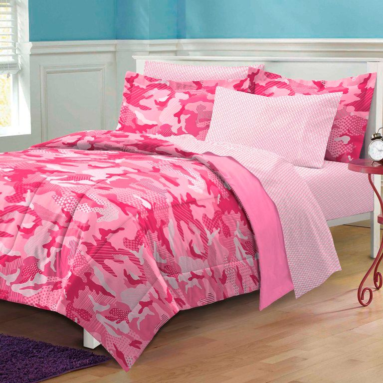 Pink Camo Bedding Twin Or Full Comforter Set Bed In A Bag Ensemble