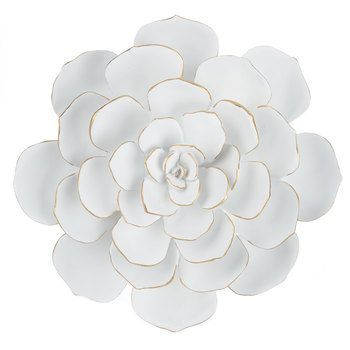 67da96ed12 Large White Cactus Flower Wall Decor - 1 @ 34.99, either 40% or 50% off