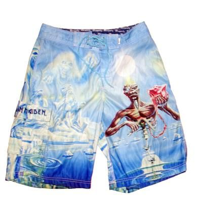7325a8de87c00 Iron Maiden Board Shorts Swim Trunks 31 Seventh Son of a Seventh Son  Dragonfly