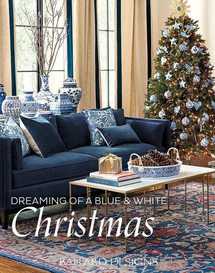 Blue And White Christmas Decor Christmas Decorations Living Room Blue And White Living Room White Living Room Decor