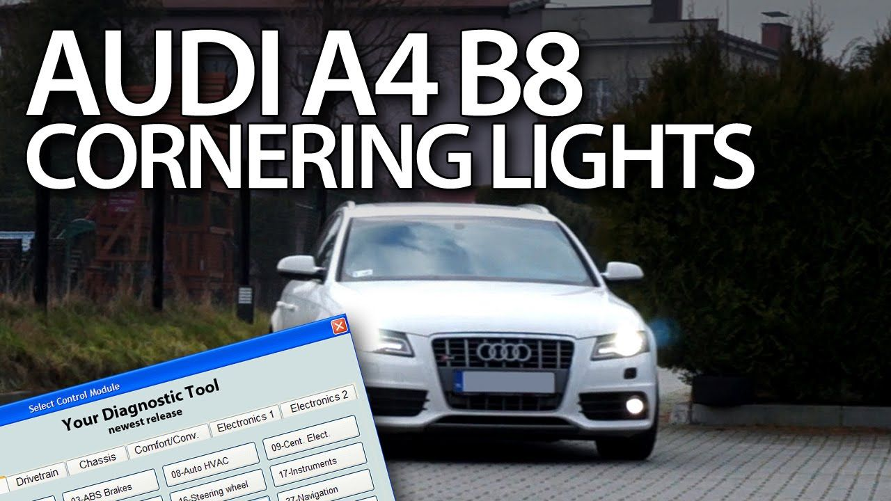 How To Enable Cornering Lights In Audi A4 B8 2008 2015 Vcds