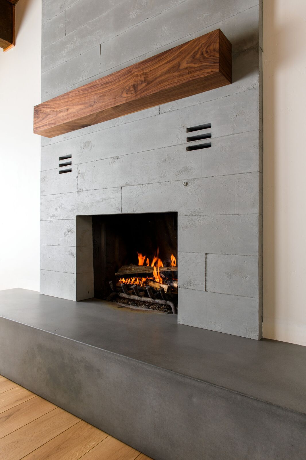 Pin On Concrete Fireplace Features