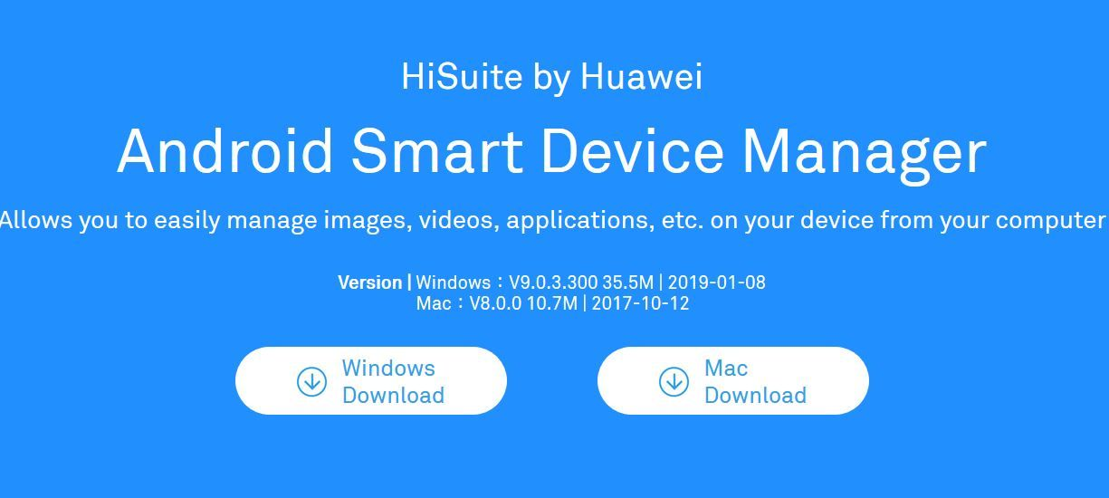 Download Huawei HiSuite APK/PC Suite for Windows and Mac
