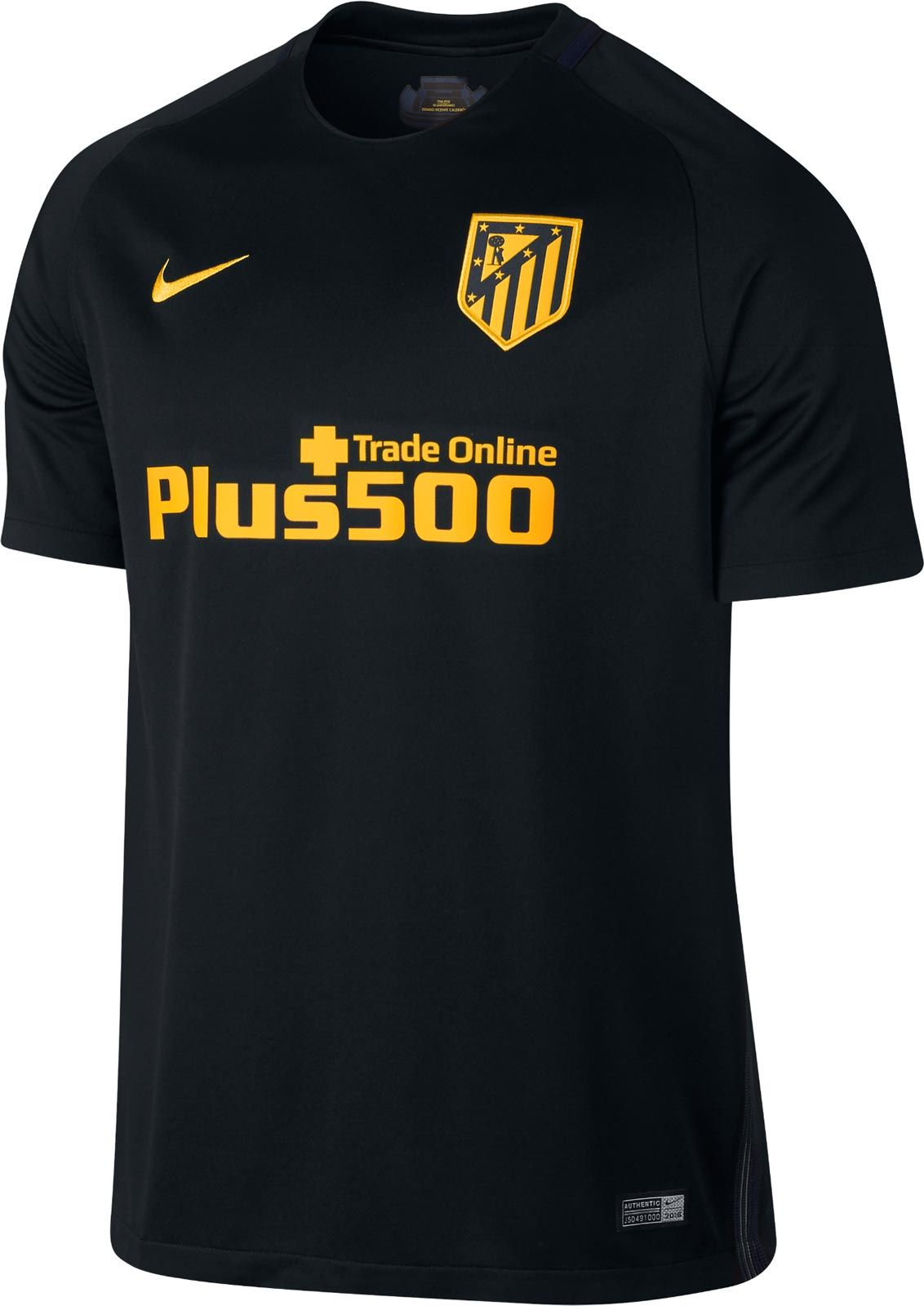 The new Atletico Madrid 16-17 away kit introduces a classy design in black  and gold. 5d0d3f92485