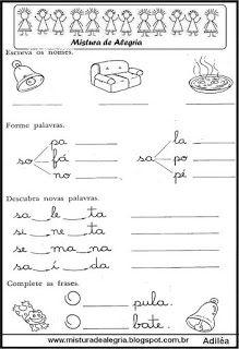 Cartilha De Alfabetizacao Pdf Familias Silabicas Atividades De