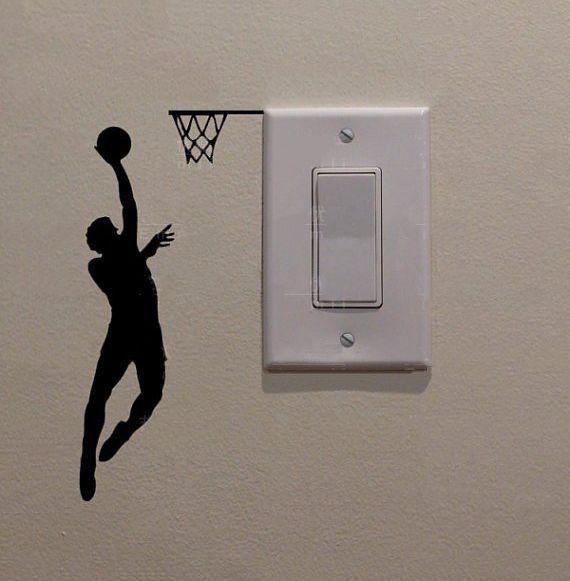 Basketball Player Mini Decal vinilos Pinterest Decos