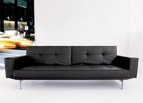 Oz Futon Sofa In Black By Innovation Living 1375 00