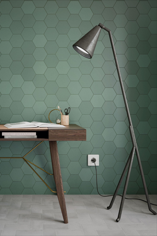 tendance vert kaki hexagonal