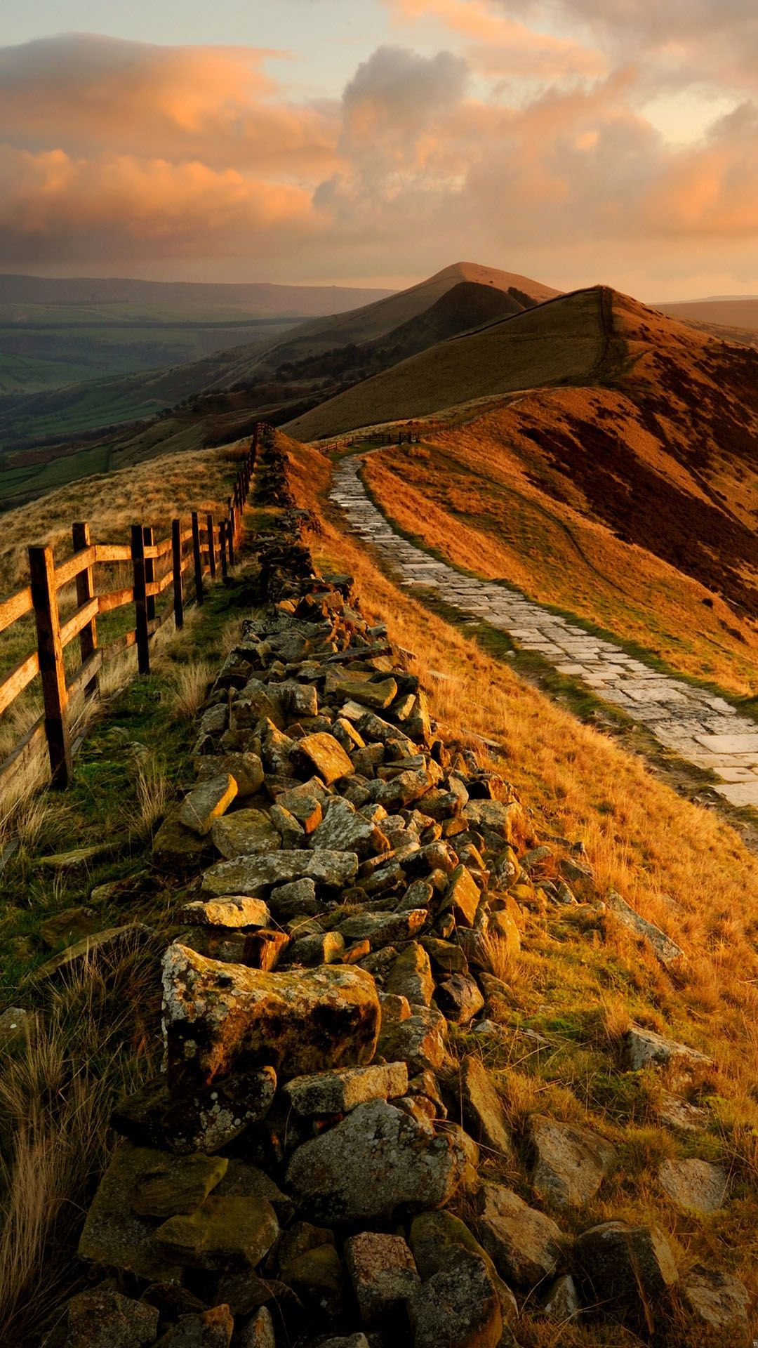 Mountain Rock Trail Sunset Android Wallpaper Android Wallpaper