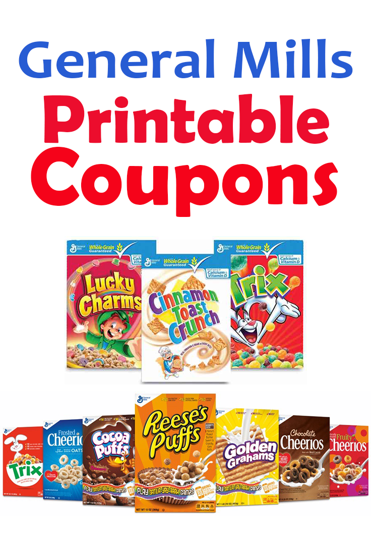 picture about Printable Cereal Coupons referred to as Consider totally free printable discount codes for In general Mills Cereals and