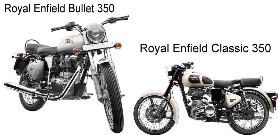 Royal Enfield Bullet 350 Vs Royal Enfield Classic 350 Automobile