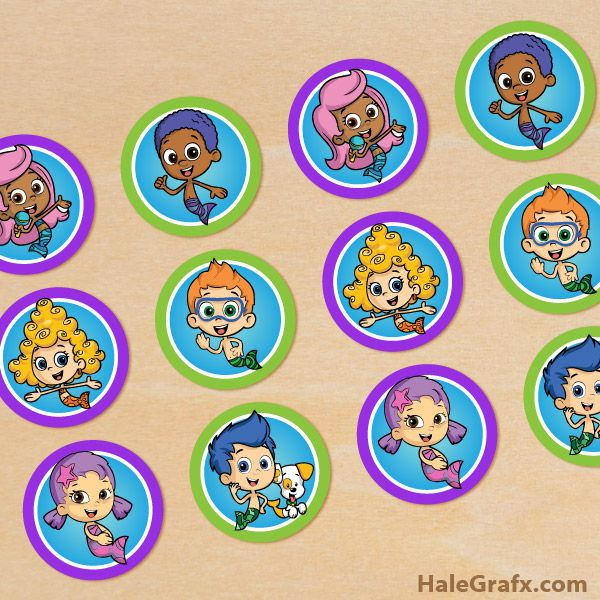 Free Printable Bubble Guppies Cupcake Toppers Bubble Guppies Birthday Party Bubble Guppies Cupcakes Bubble Birthday Parties