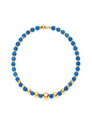 Blue Agate Sfera Station Necklace