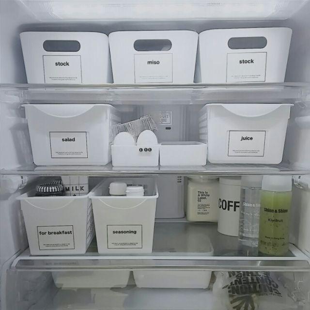 5a169d1d2d 100均でできる!スッキリ&キレイな冷蔵庫収納アイデア   収納   冷蔵庫 ...