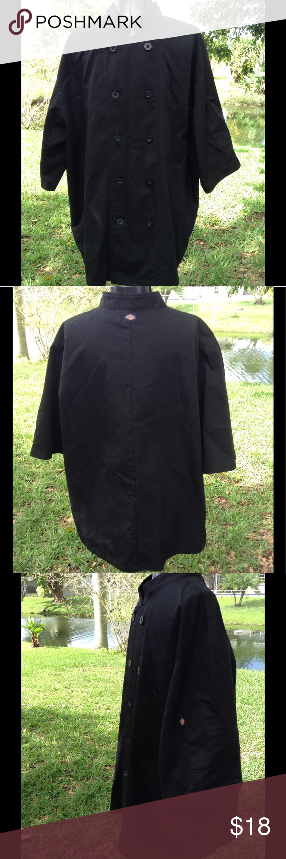 Mens Dickies chef jacket size XL Dickies black chef jacket