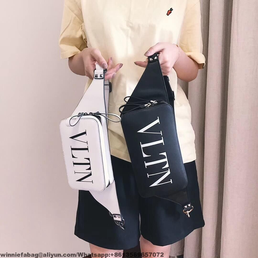 75fb5843b Valentino Calfskin VLTN Belt Bag | Replica handbags Review ...