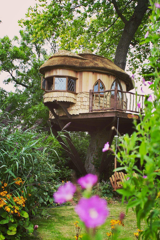 amberley castle treehouse. a fairytale hideaway builtblue