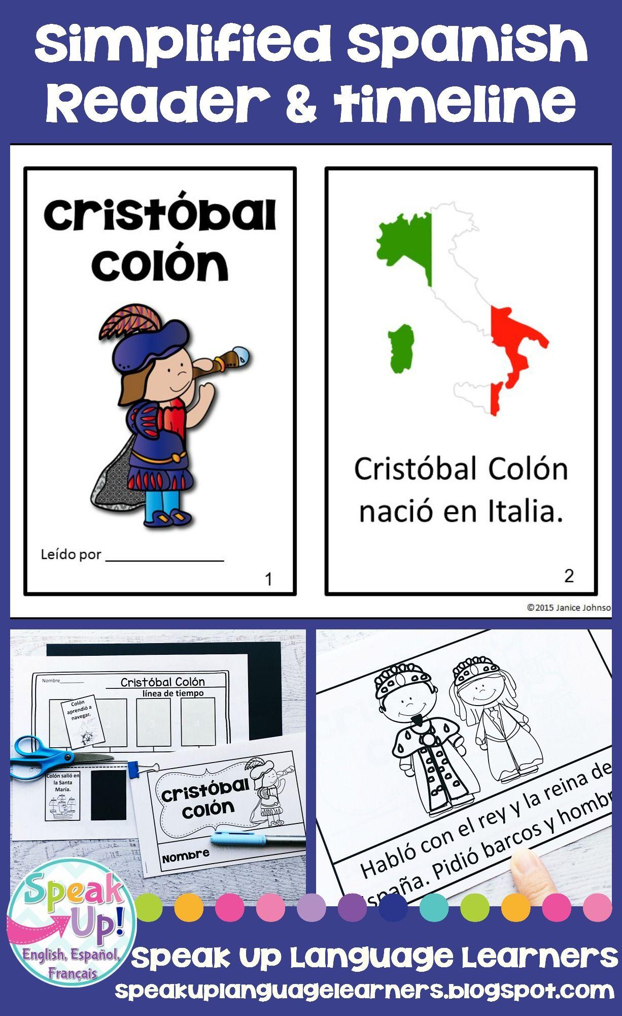 Cristobal Colon Spanish Reader Amp Timeline For Columbus Day