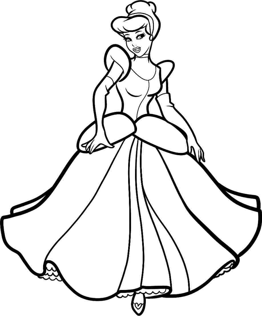 Coloring Pages Disney Princesses Cinderella | Coloring Pages ...