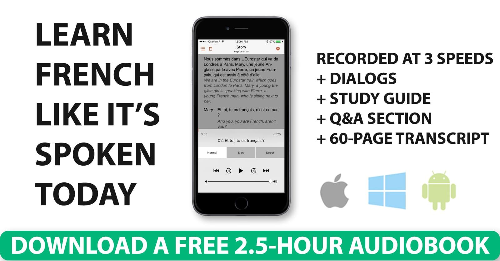 Download Your Free 2.5Hour French Audiobook No