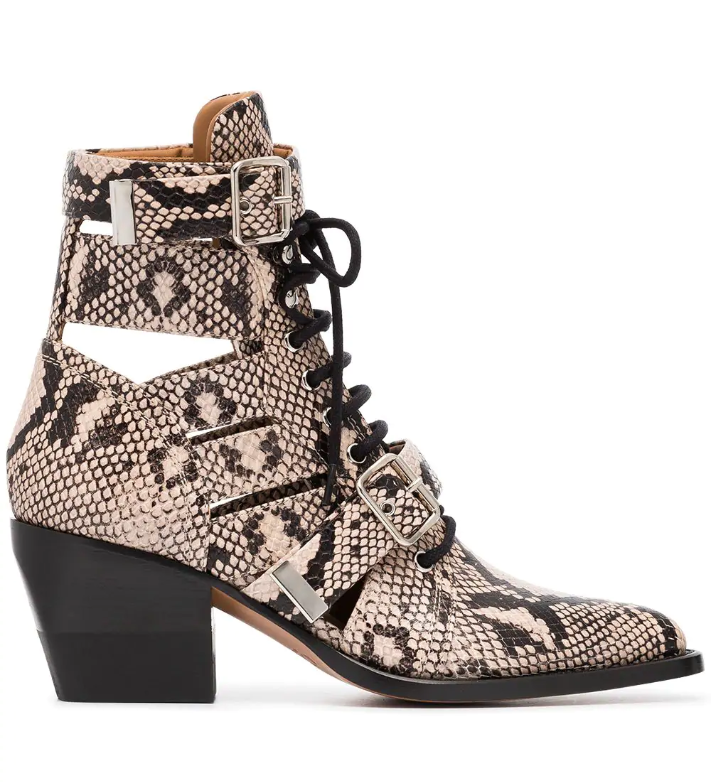 CHLOÉ - Rylee 60 Leather Ankle Boots