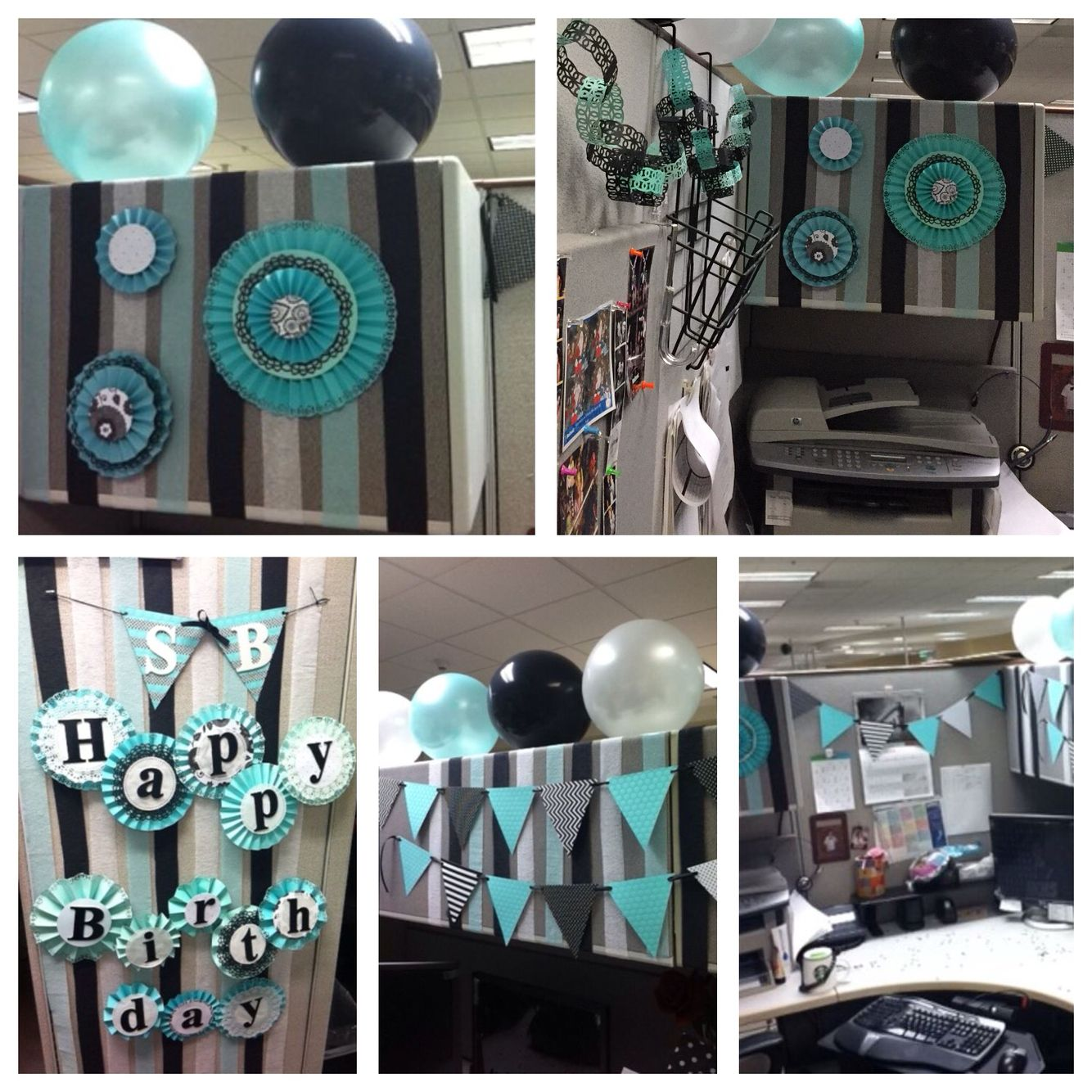 Diy office cubicle door - Cubicle Birthday Decoration For My Coworker