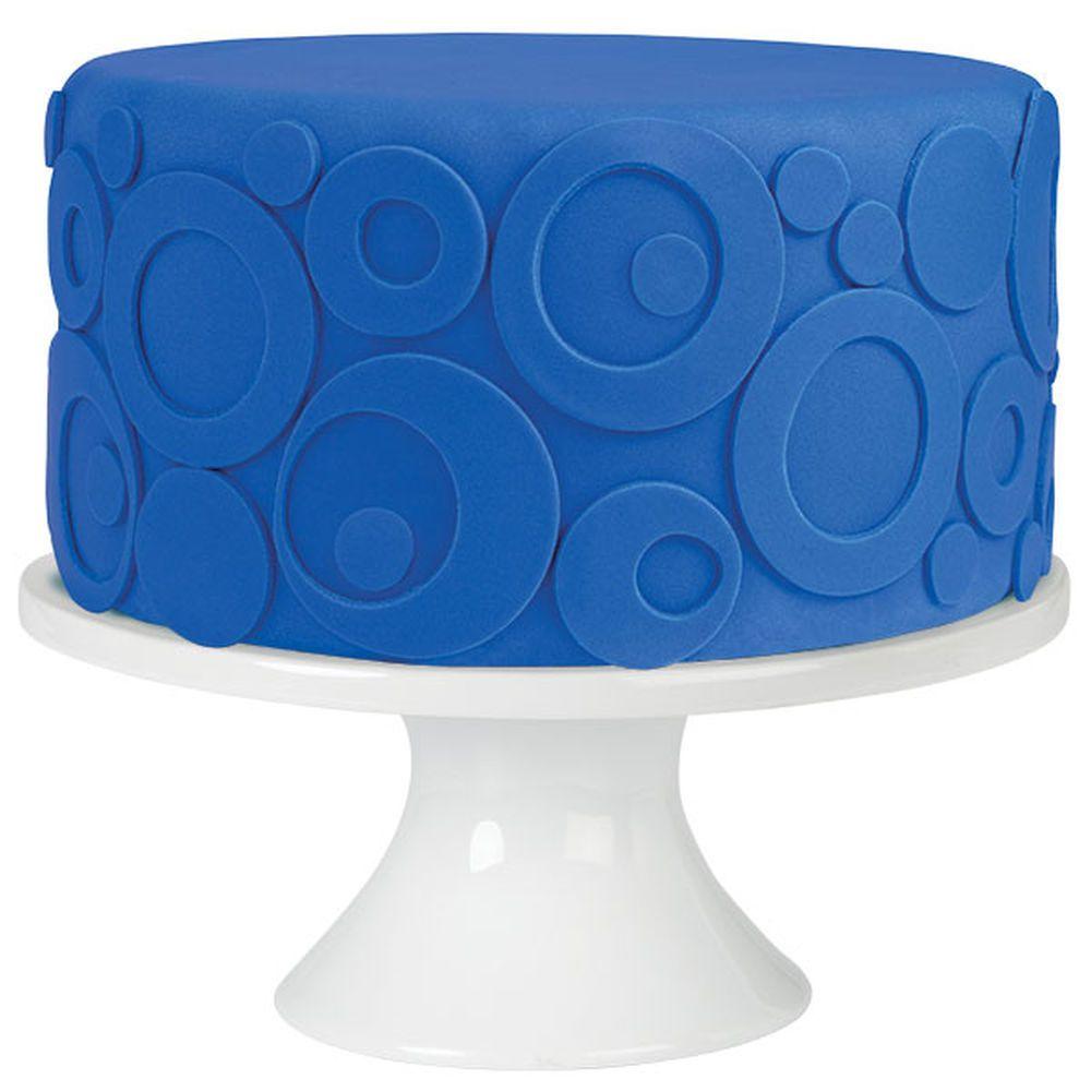 Stacked Circles Fondant Cake   Recipe   Cake, Easy cake ...