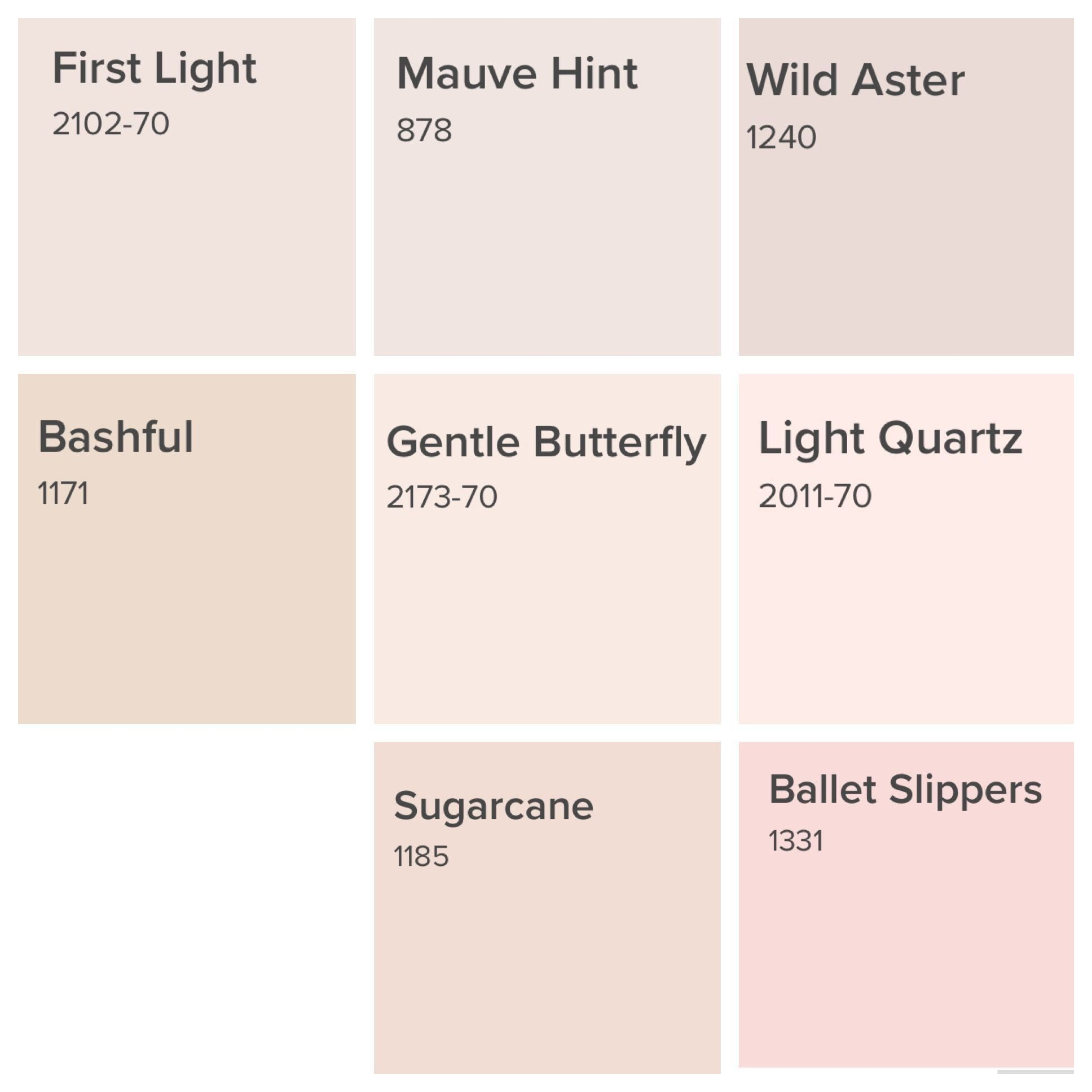 Bm Pink Blushes 1000 Modern In 2020 Pink Paint Colors Paint Colors For Home Room Paint Colors