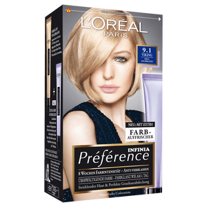 L'Oreal Paris Preference Infinia 9.1 Viking Light Ash Blonde Long-lasting Hair Color #lightashblonde