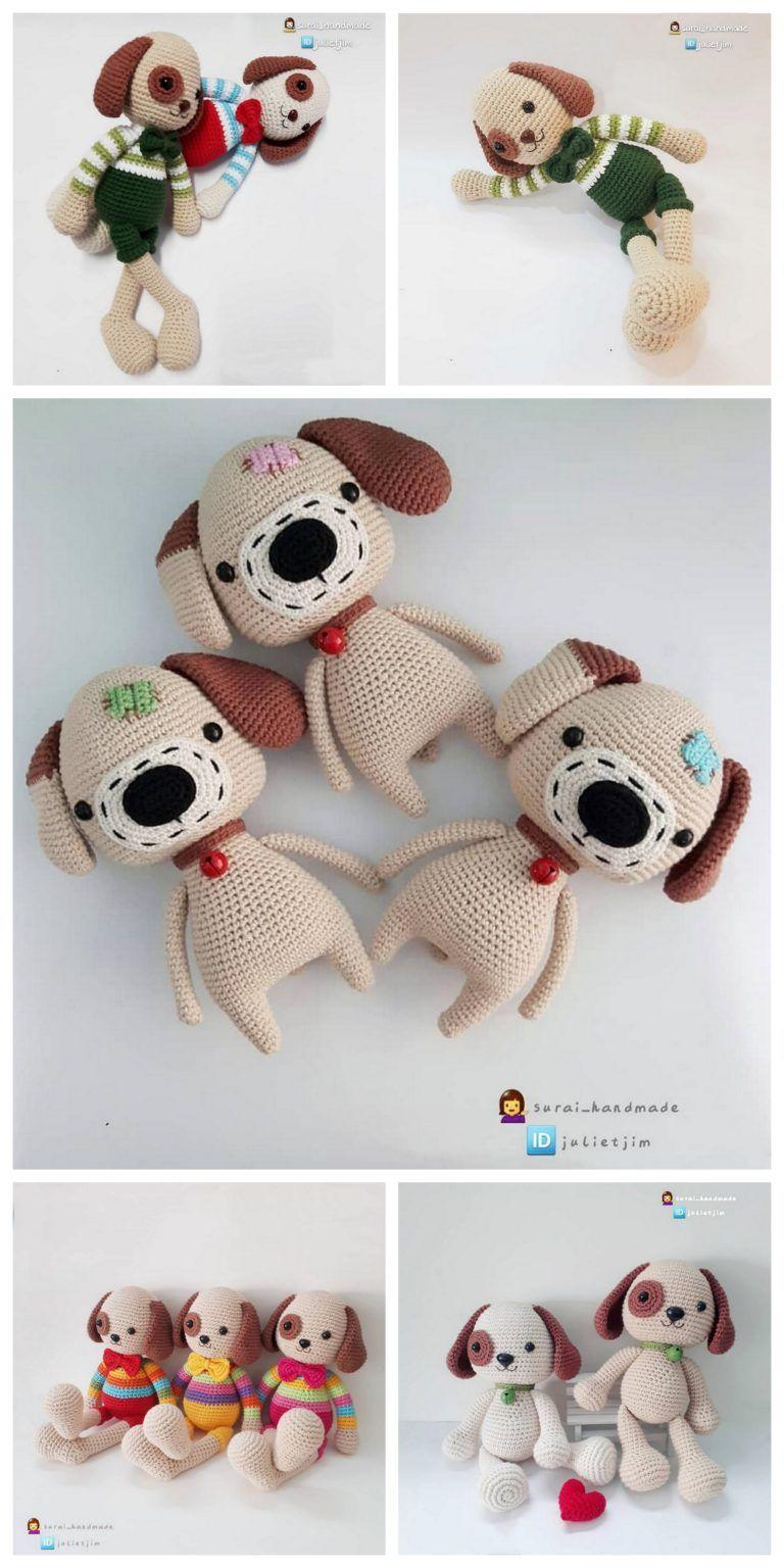 Amigurumi dog Toshka free pattern #Amigurumi #dog #Toshka #free ... | 1536x768