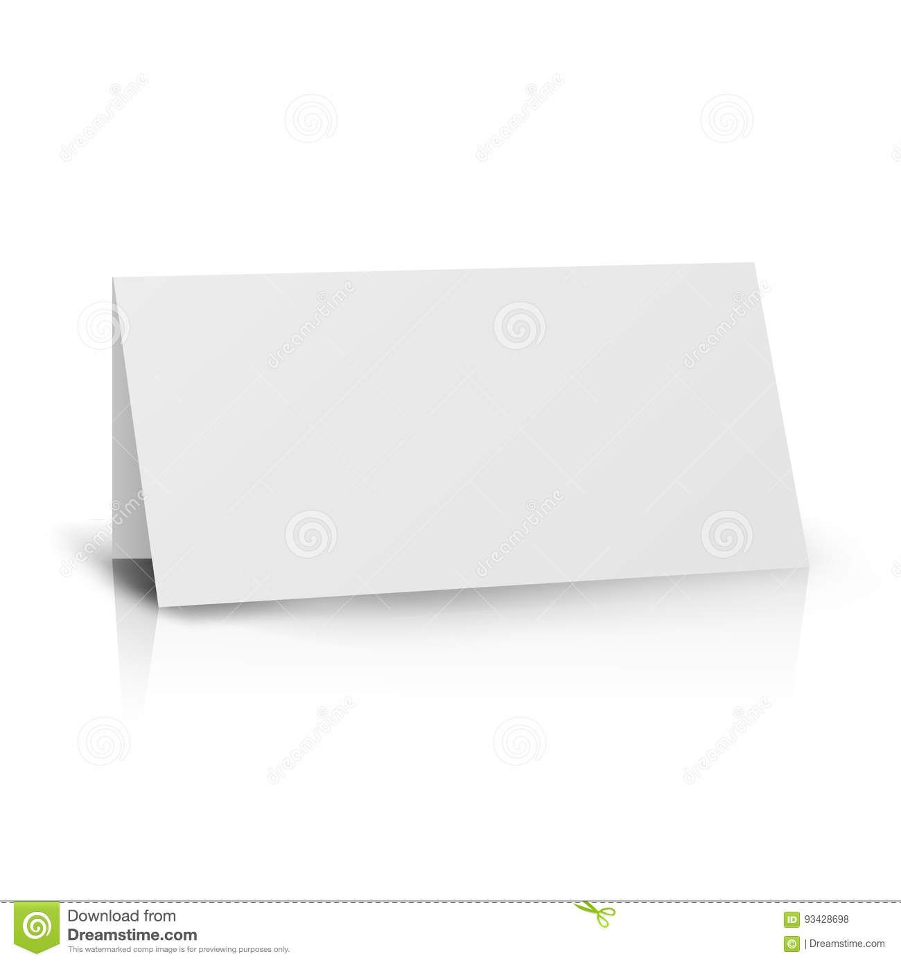 White Folder Paper Greeting Card Vector Template Stand Regarding Card Stand Template Gr In 2020 Paper Greeting Cards Card Templates Printable Birthday Card Template