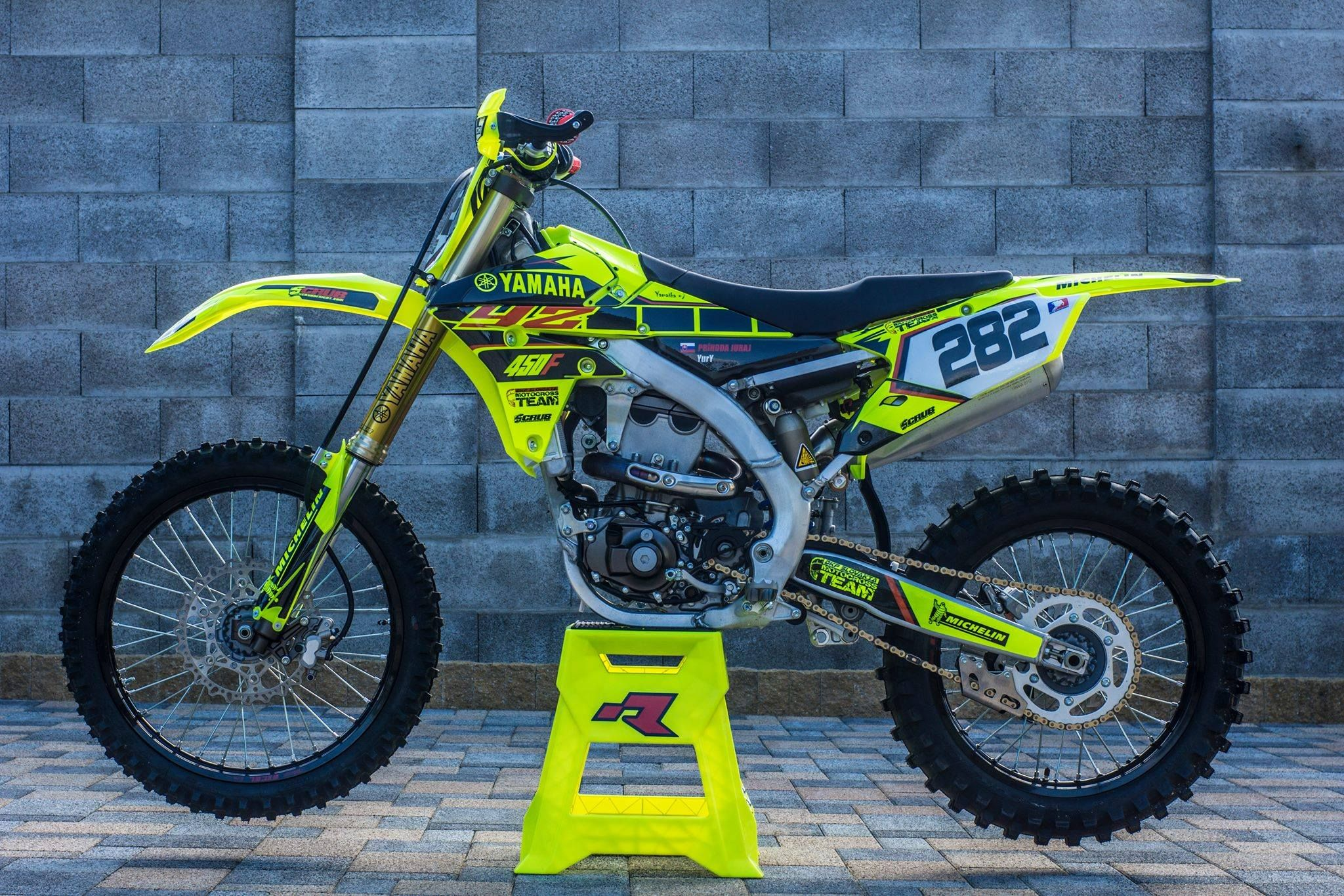 Get Ya Fluorescent Fluro Bike Dirtbike Mx Yamaha Motorcross Bike Ktm Dirt Bikes Motocross Bikes
