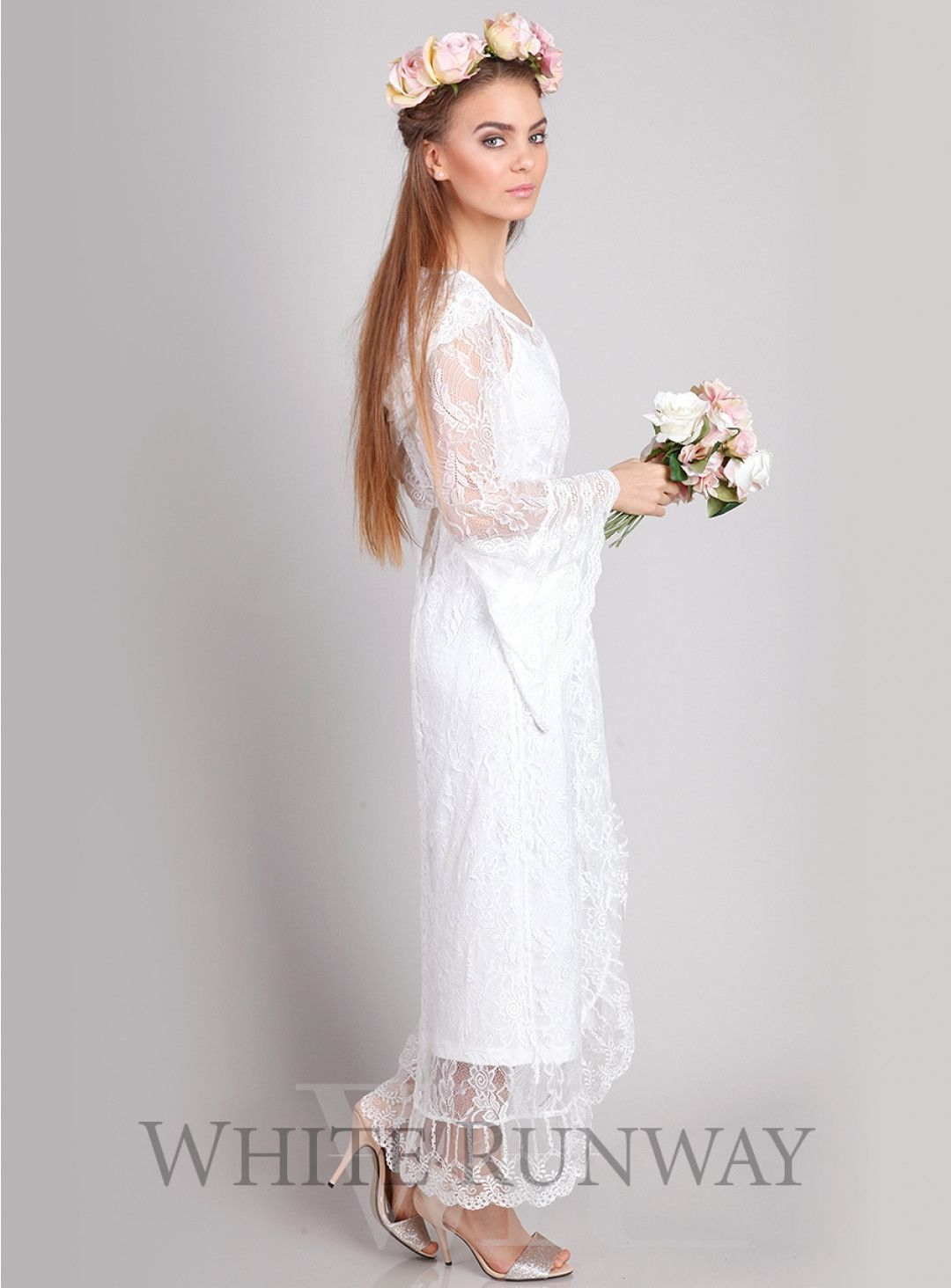 White cocktail dress for wedding  Gypsy Dreaming Maxi Fall in love with the bohemian inspired Gypsy