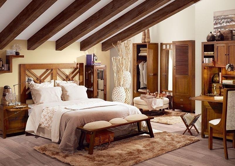 Dormitorio colonial de matrimonio star dormitorios de - Decoracion interiores dormitorios ...
